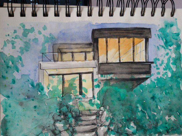 House watercolour