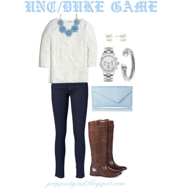 """duke/carolina game"" by postgradprep on Polyvore"
