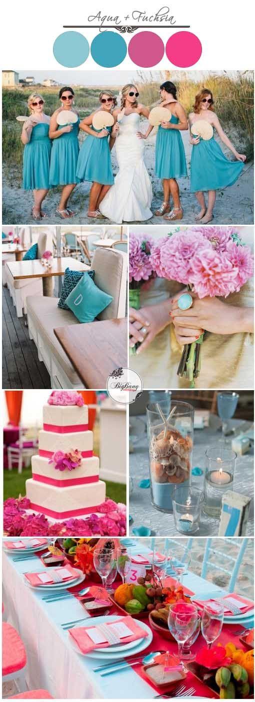 Aqua and Fuchsia Wedding Inspiration | BigBang Wedding, Singapore