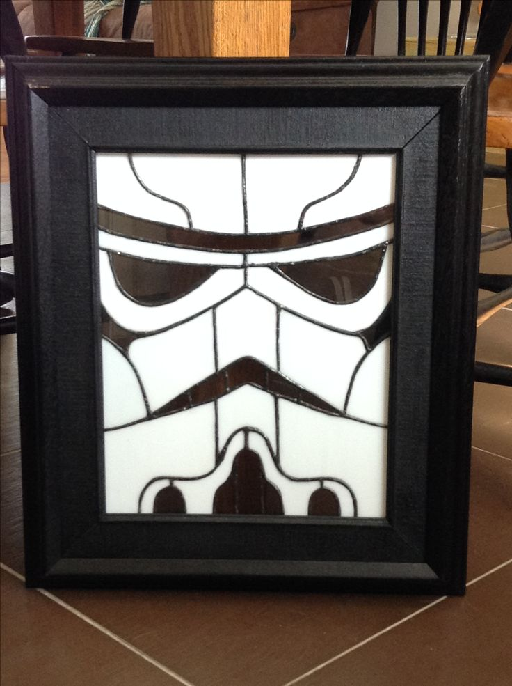 Stain glass storm trooper