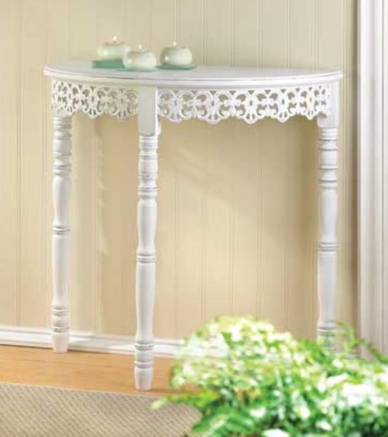 Foyer Table Meaning : Flourish hall table this lovely three legged half moon