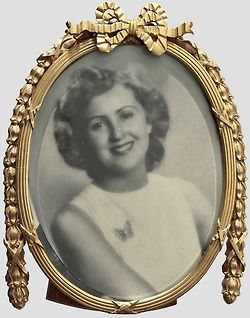 Adolf Hitler's favorite picture of Eva Braun; though the picture is a replica the frame did belong to Adolf Hitler