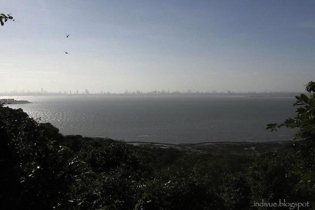 Mumbai, India, seen from the Elephanta Caves