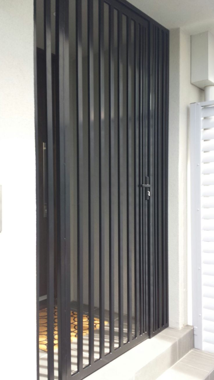 steel security door enclosure installed in malvern