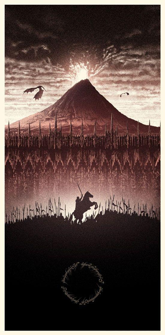 Posters incríveis que resumem a história do Senhor dos Anéis de forma épica! - Fail Wars : Fail Wars