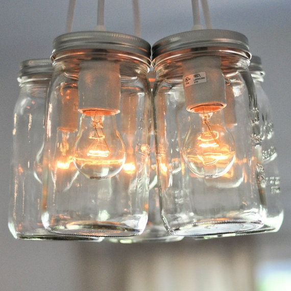 Rustic Industrial Lighting Chandelier Mason Jar Chandelier: 310 Best Images About Rustic Love On Pinterest