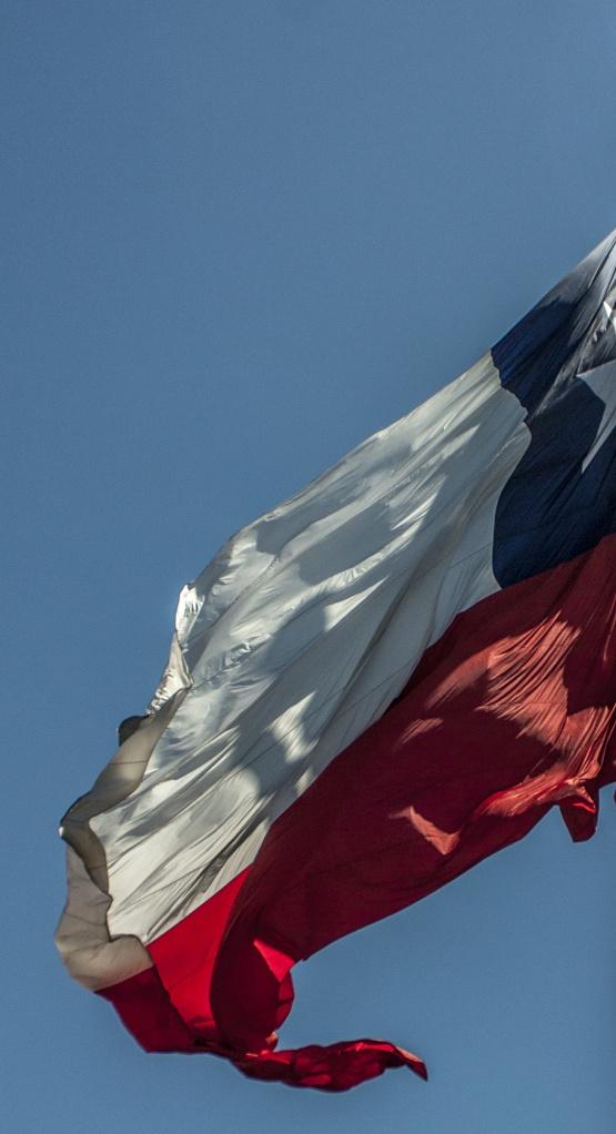 Chilean flag – Santiago, Chile