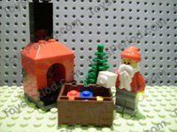 LEGO 7904-25 Advent Calendar 2006, City (Day 24) Santa, Tree, Gifts, and Fireplace Image 1