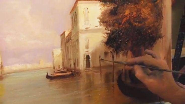 """Картина """"Венеция"""" Урок по живописи Игоря Сахарова"""