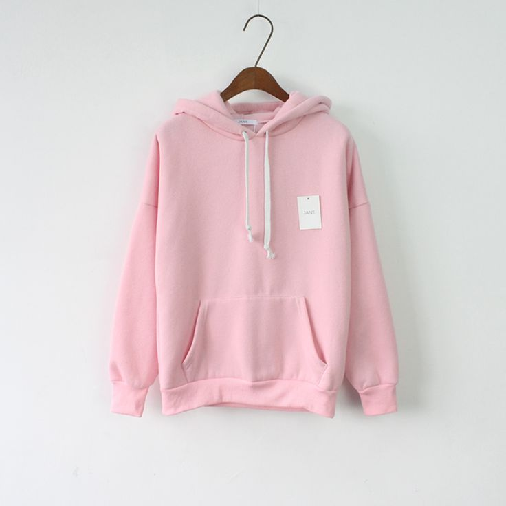 2016 Women Hoodies Sweatshirt Long Sleeve Pink Casual Harajuku Sport Pocket Design Hoodie For Women Pullovers Sudaderas Mujer
