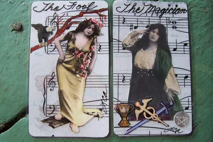 SweetLaraine: New Beautiful Bohemian Gypsy girls handmade tarot cards are for sale in my etsy