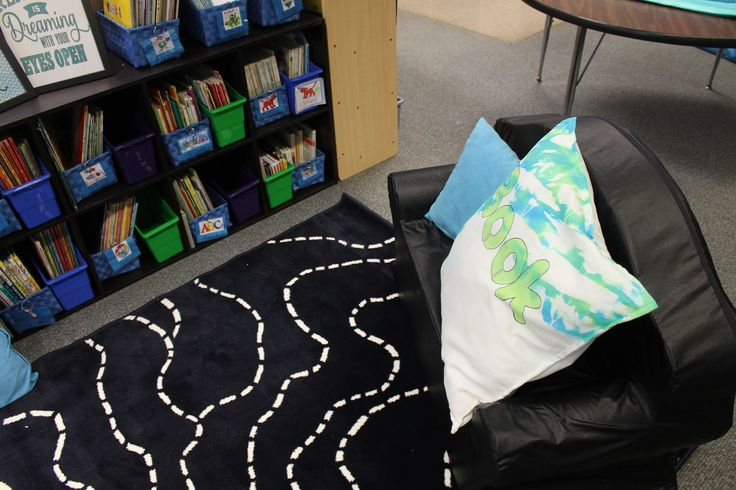 """Read All About"" Turquoise and Black Classroom Library Makeover"