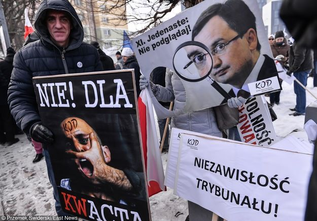 Manifestacja KOD /Jan Graczyński /PAP  23.01.16