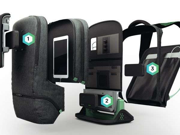 The backpack Ampl, is a backpack that allows the wearer to recharge her device via an integrated intelligent battery. http://goo.gl/IeNlTu #technology #gadget