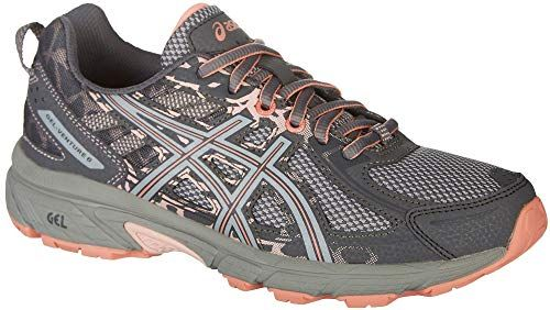 4d3228376413b ASICS Gel-Venture 6 Women's Running Shoe, Carbon/Mid Grey/Seashell Pink
