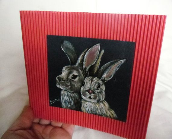 Handpainted greeting card Art  Oil Painting  by kezulegsajat