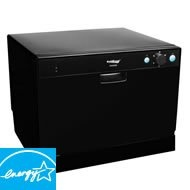 Countertop Dishwasher Energy Star : Place Setting Energy Star Countertop Dishwasher - Black Dishwashers ...