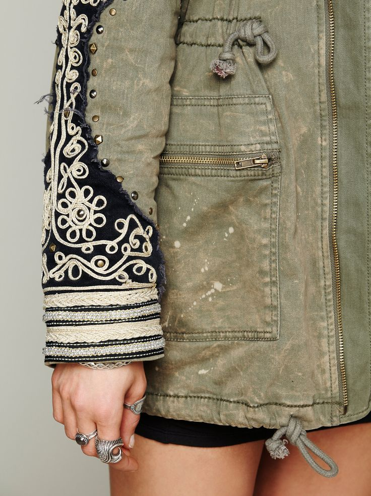 Golden Quills Military Parka at Free People Clothing Boutique