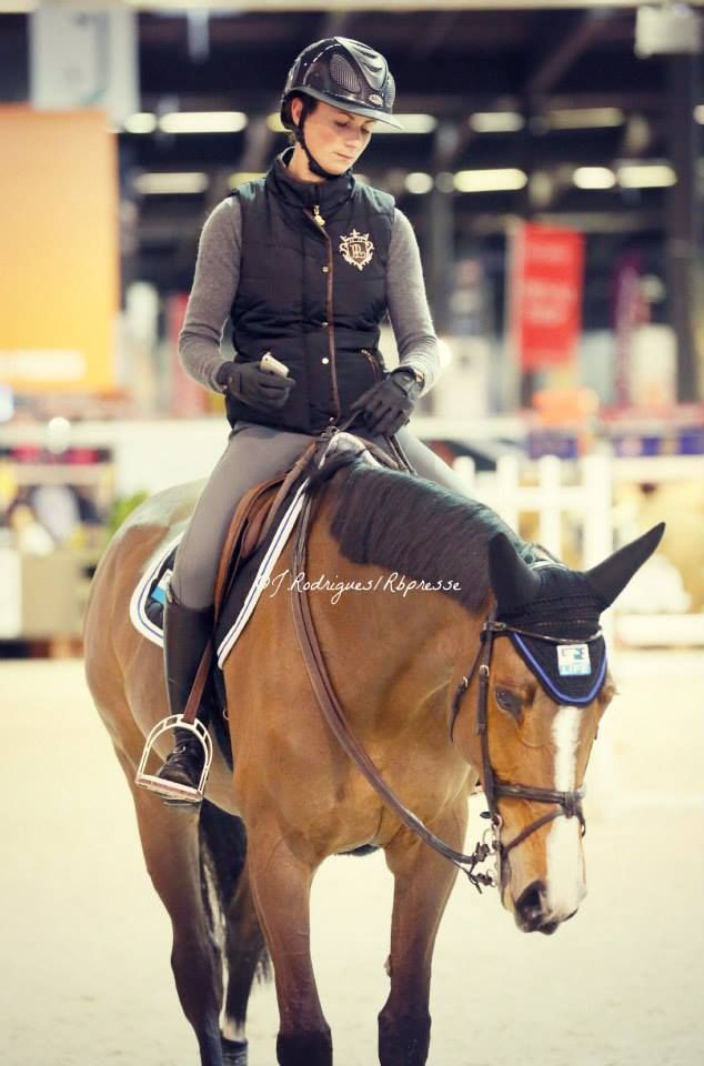 Penelope LePrevost (France) in a vest and breeches from her own line, GPA helmet #stylemyride StyleMyRide.net