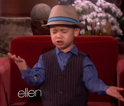 WATCH: Adorable kid performs best MUST WATCH AND REPIN!! Bruno Mars cover ever on 'Ellen'... ABSOLUTELY ADORABLE NUGGET FACE!!!