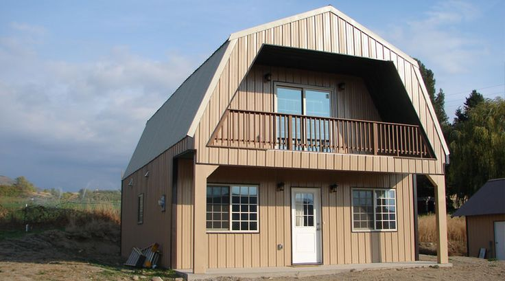 Steel Frame Gambrel Type Homes Starting from $19,950 (HQ Pictures) | Metal Building Homes