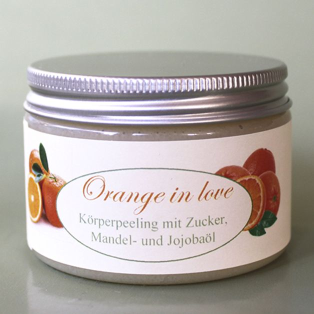 "Pflegendes Körperpeeling ""Orange in love"""