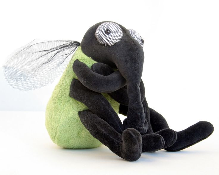 Green House Fly - Plush Halloween Toy, plushie Insect, stuffed animal, funny soft toy by andreavida on Etsy https://www.etsy.com/ca/listing/204686880/green-house-fly-plush-halloween-toy