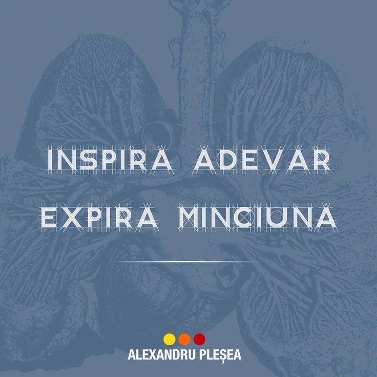 Exercitiu de respiratie: Inspira Adevar. Expira Minciuna #haiperacheta
