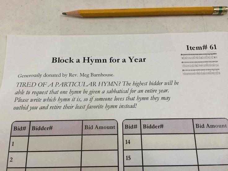 Humorous harmonious silent auction idea for your next diocesan or parish fundraiser! | @DawnofMercy retweets Bishop Umbers of Sydney, Australia