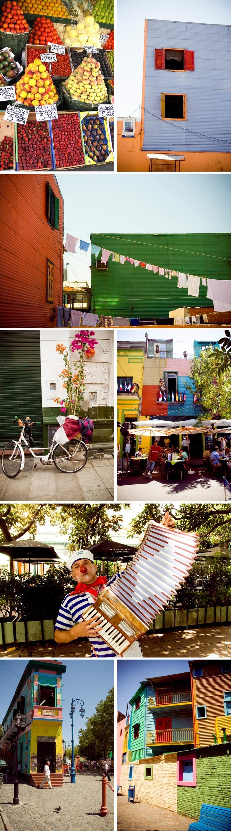 Bright colors in Buenos Aires - La Boca