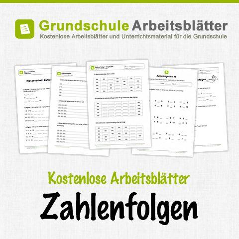 Kostenlose Arbeitsblätter und Unterrichtsmaterial zum Thema Zahlenfolgen im Mathe-Unterricht in der Grundschule.