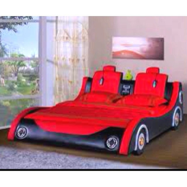 race car bed, yes!: Race Cars, Bunk Beds, Coolest Beds, Boy Beds, Cars ...