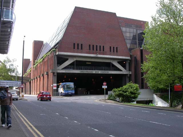 Greyfriars Bus Station, Northampton by Kokai, via Geograph