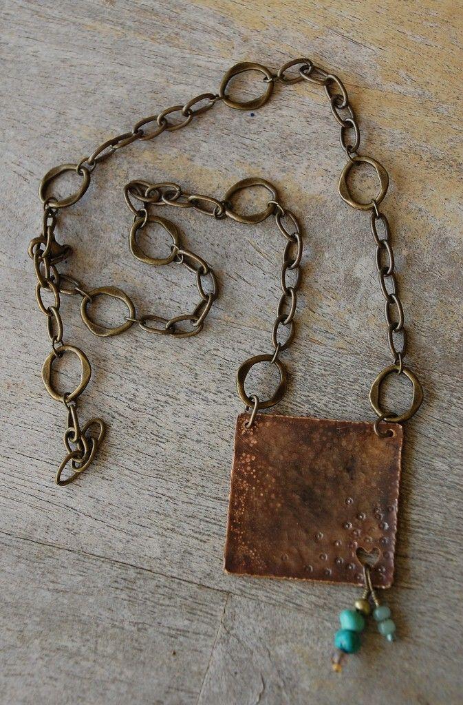 Rustic Copper Necklace