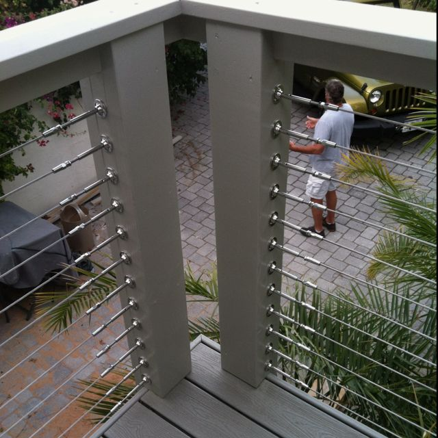 Cool steel cable railing