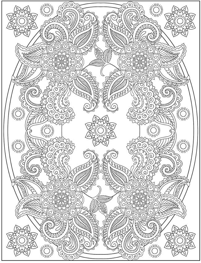 Paisley Pattern Colouring Sheets : 525 best colouring plates for adults images on pinterest