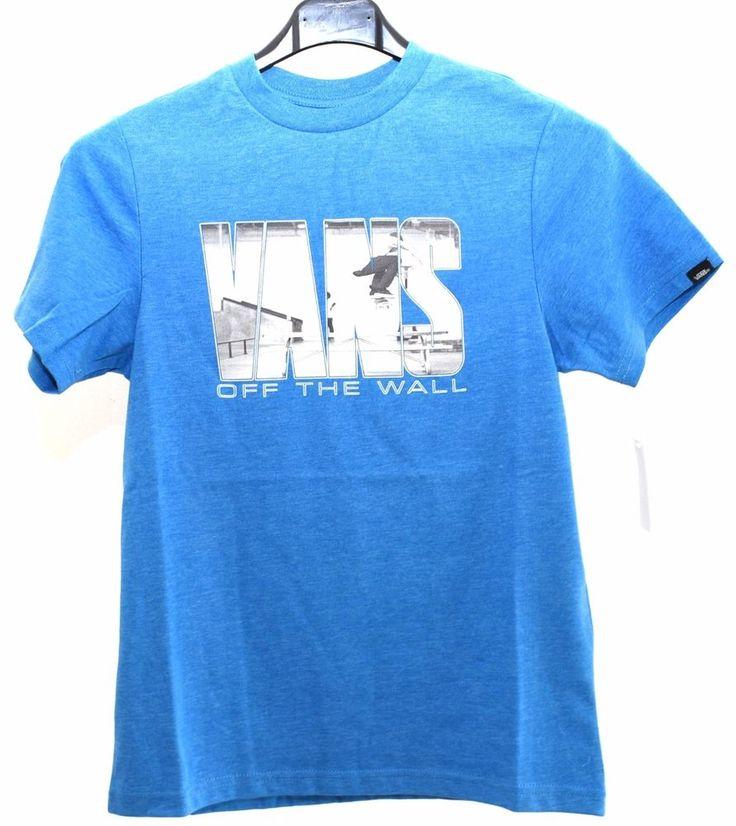 VANS VA318R4O2 AZZURRA T-shirt Mezze Maniche Corte Ragazzo Junior Estate 2017