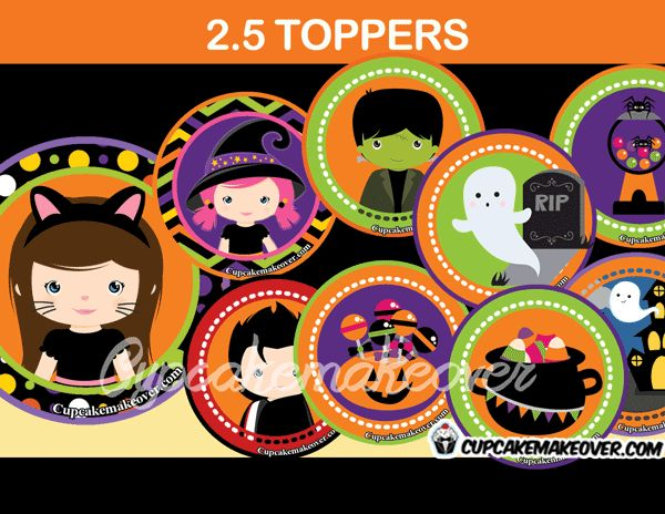 creepy cute halloween themed toppers perfect for decorating your store bought or home