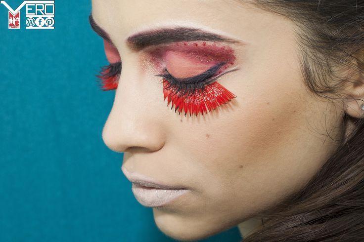 Dramatic Red Eye Makeup