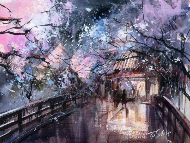 Toshiro Kamezaki Le Japon En Aquarelle Japon Aquarelle Et Paysage