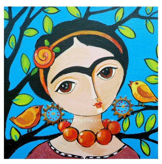 Art Print from original acrylic painting Frida by sublimecolors, $12.99