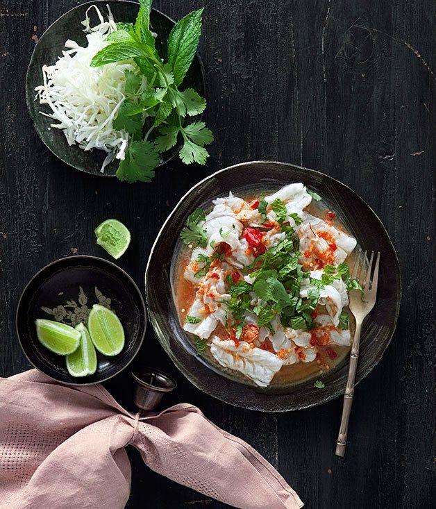 Spicy prawn salad recipe | Prawns recipe - Gourmet Traveller