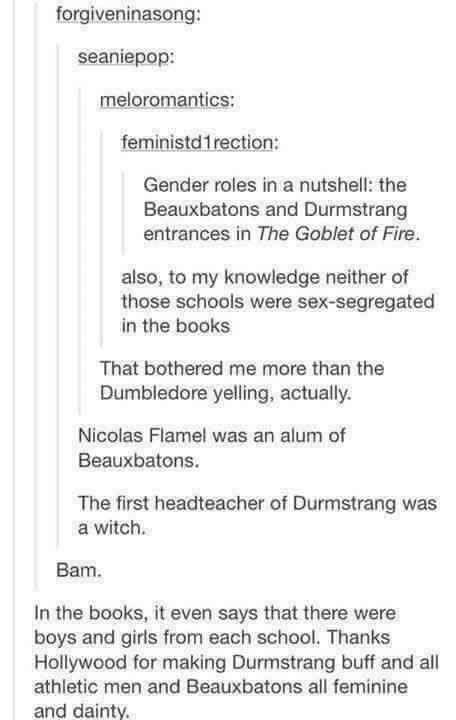 Harry Potter gender roles