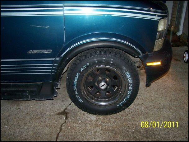 Astro Van Tire Size