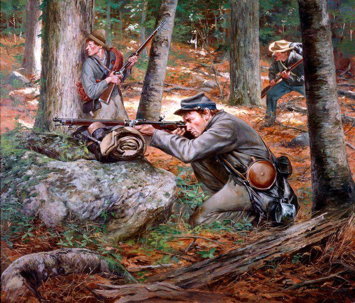 Confederate sharpshooter w/ Whitworth rifle Don Troiani artwork