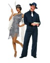 Jazzy Hot Pink Flapper Couples | Cheap Couples Halloween Costume for Women