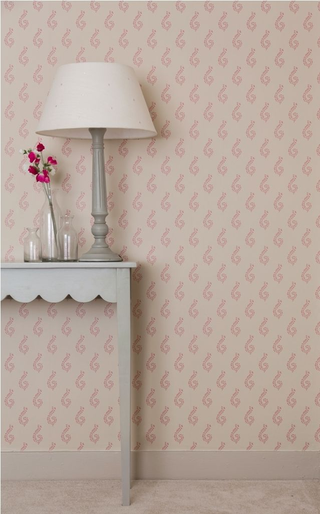 This is the small shalini wallpaper with Pale honey background and a  gorgeous rose pattern. Designed to complement and mix and match with our  paint and ...