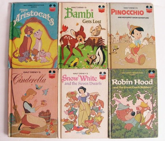 Disney Book Club Books.  We had so many of these!