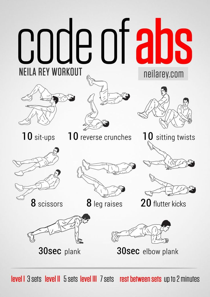 Code of Abs Workout-- I should be doing all of these right now!