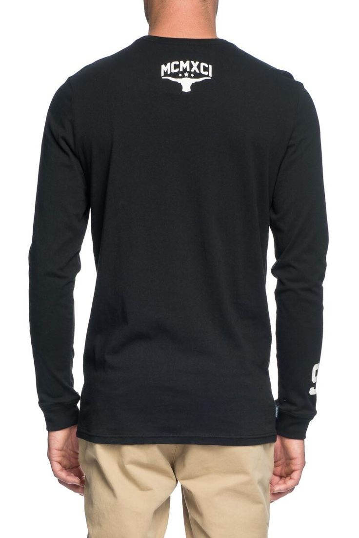 ELWOOD CLOTHING - Downtown Long Sleeve Tee Black